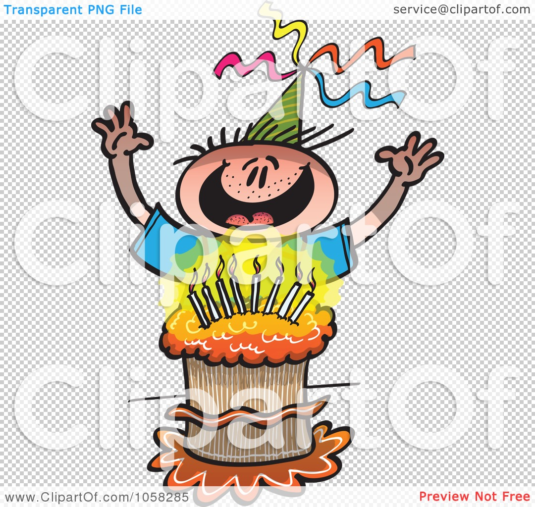 Happy birthday boy cake clipart graphic library library Royalty-Free Vector Clip Art Illustration of a Happy Birthday Boy ... graphic library library