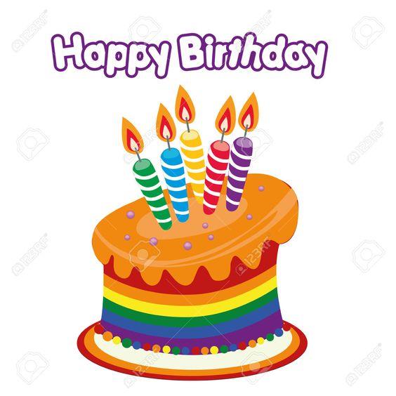 Happy birthday cake clipart black and white stock Happy Birthday Cake Clipart a Colored Happy Birthday Cake ... black and white stock