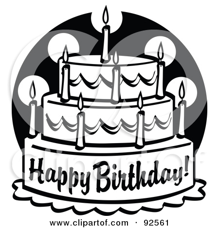 Happy birthday cake clipart black and white clipart freeuse 17 Best images about Clip Art on Pinterest | Clip art, Ducks and ... clipart freeuse