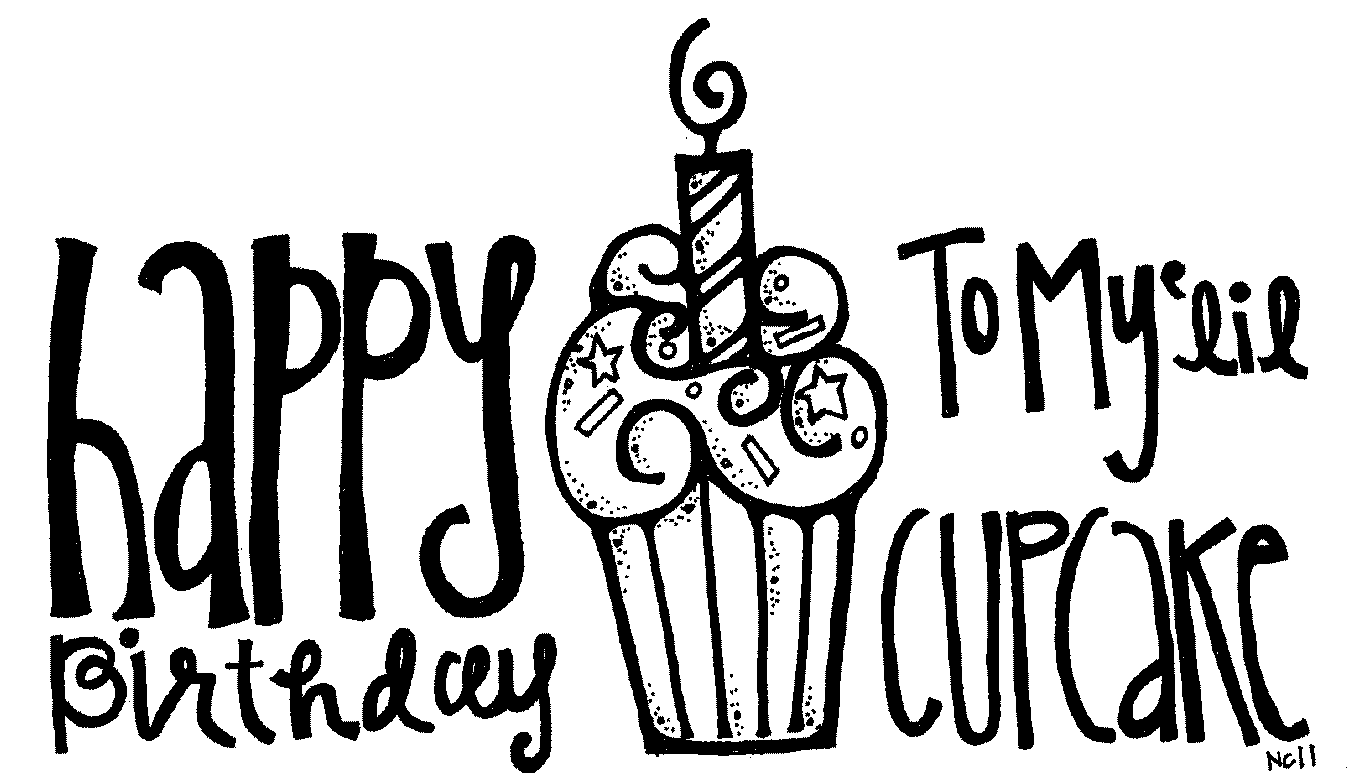 Happy birthday cake clipart black and white clip art black and white stock Happy Birthday Black And White Clipart - Clipart Kid clip art black and white stock