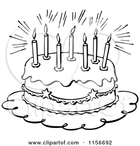 Happy birthday cake clipart black and white png royalty free library Birthday cake clip art black and white free - ClipartFest png royalty free library