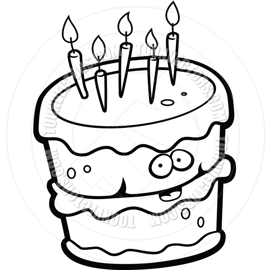 Happy birthday cake clipart black and white picture library stock Happy Birthday Black And White Clipart - Clipart Kid picture library stock