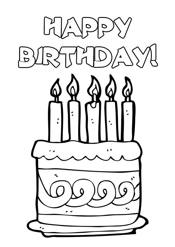 Happy birthday cake clipart black and white clip library stock Birthday black and white happy birthday cake clip art black and ... clip library stock