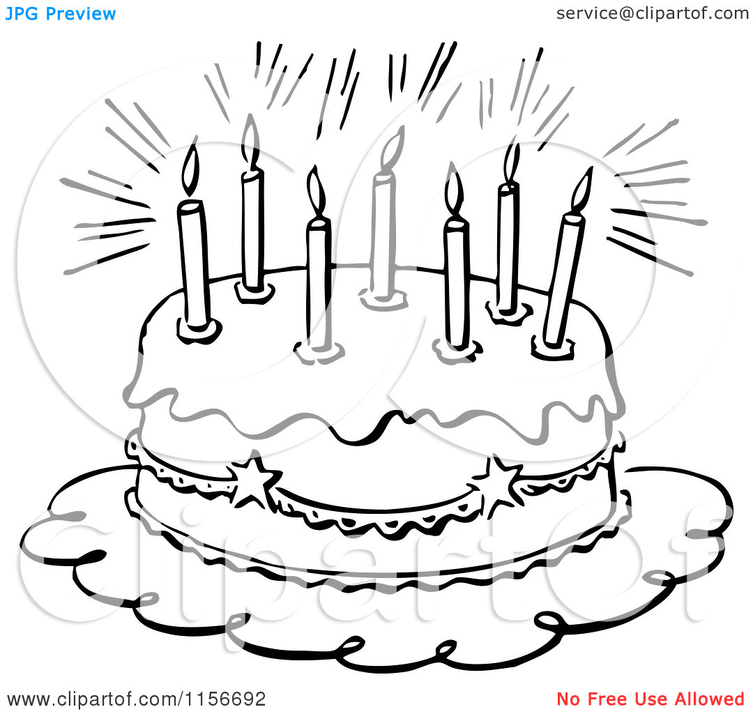 Happy birthday cake clipart black and white clipart library download Happy Birthday Black And White Clipart - Clipart Kid clipart library download