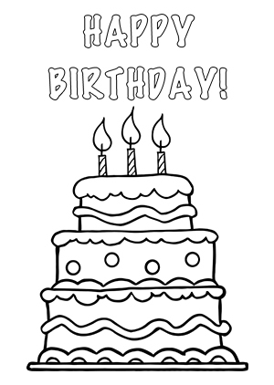 Happy birthday cake clipart black and white png royalty free stock Birthday cake clip art black and white free - ClipartFest png royalty free stock