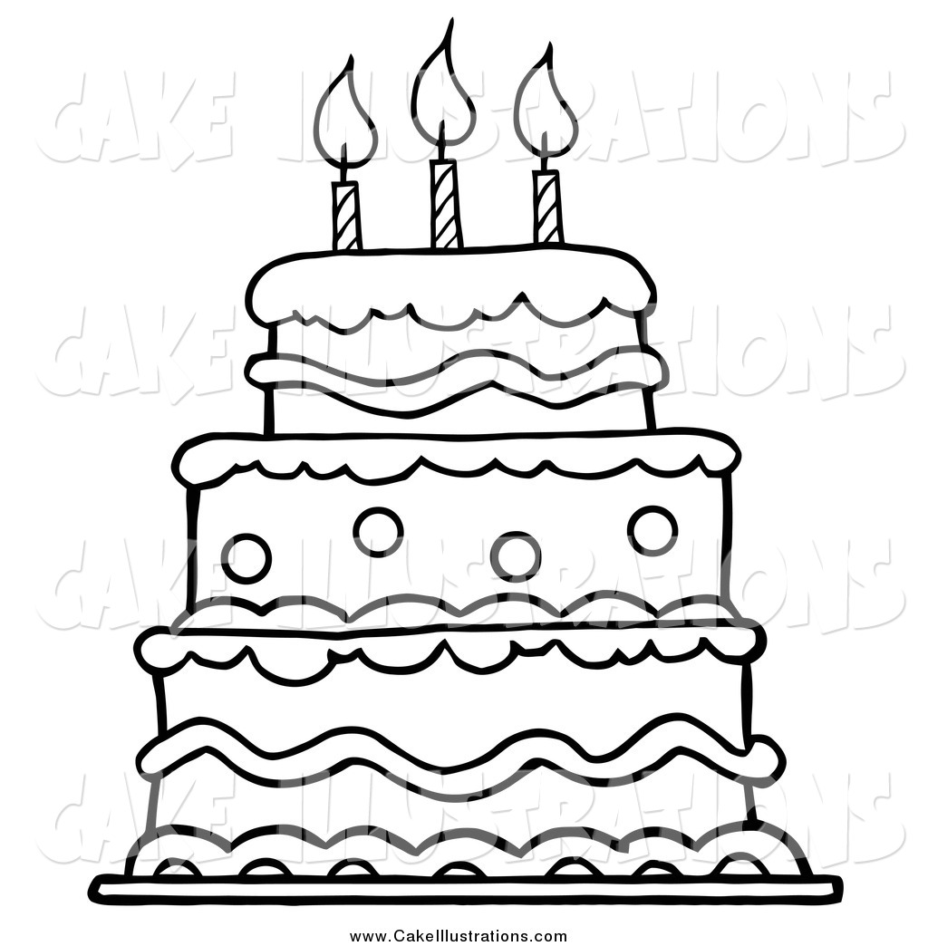 Happy birthday cake clipart black and white clip art black and white library Birthday Cake Black And White Clipart - Clipart Kid clip art black and white library