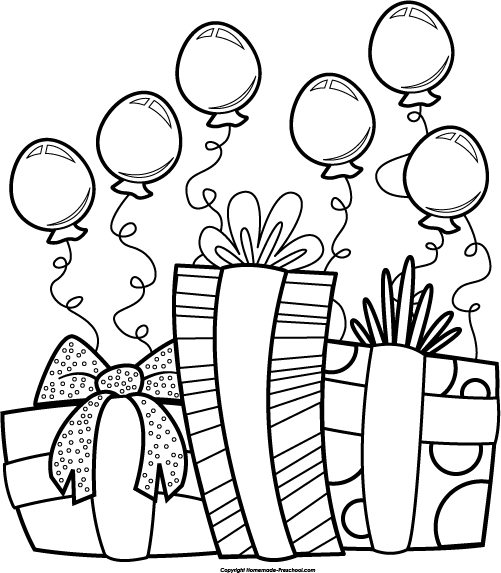 Happy birthday cake clipart black and white picture download Birthday Clipart Black And White & Birthday Black And White Clip ... picture download
