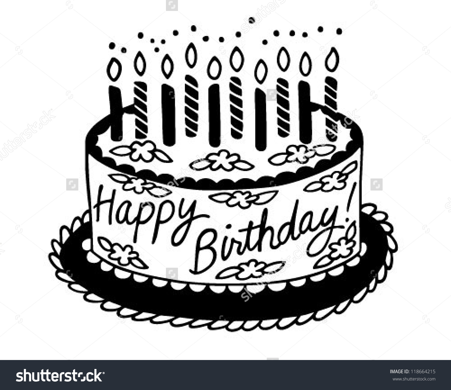 Happy birthday cake clipart black and white picture library Birthday Cake Clipart Black. Birthday. Free Images Birthday Cakes ... picture library