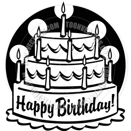 Happy birthday cake clipart guys clip art royalty free Cartoon Birthday Cake Vector Illustration by Clip Art Guy | Toon ... clip art royalty free