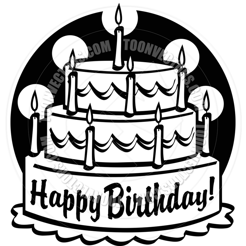 Happy birthday cake clipart guys svg Cartoon Birthday Cake Vector Illustration by Clip Art Guy | Toon ... svg