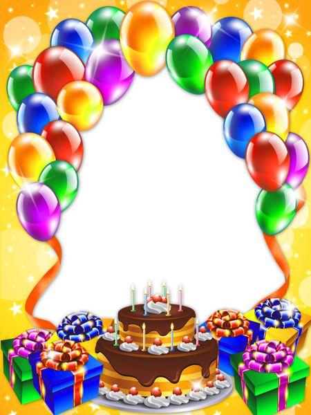 Happy birthday cake clipart transparent clipart black and white stock Happy Birthday Transparent PNG Frame | frames & borders ... clipart black and white stock