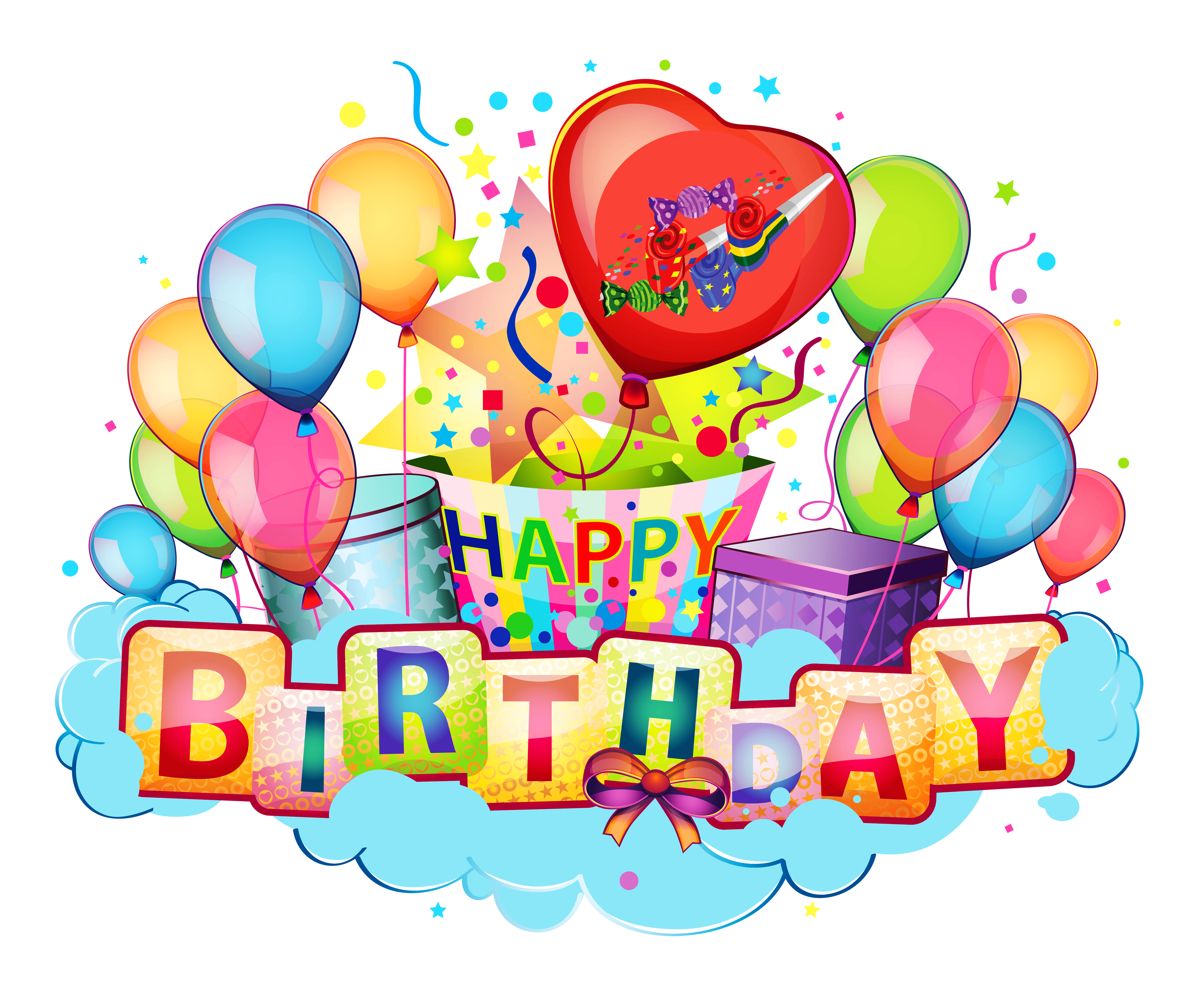 Happy 1st birthday clipart image free library My birthday clipart transparent background - ClipartFest image free library