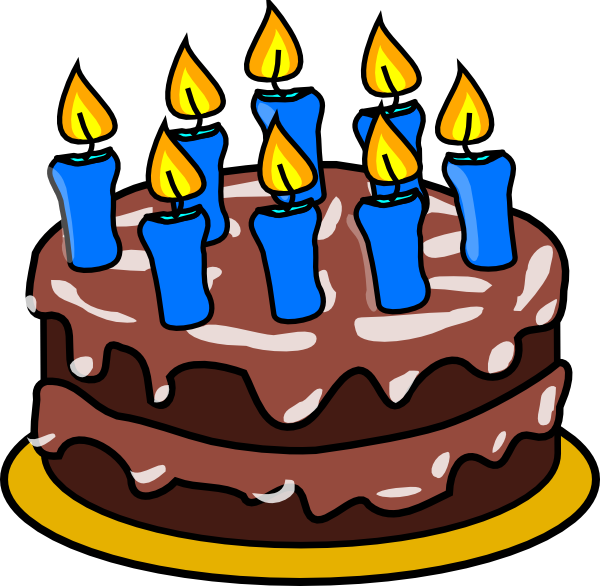 Happy birthday cake with candles clipart png black and white library Happy Birthday Clip Art at Clker.com - vector clip art online ... png black and white library