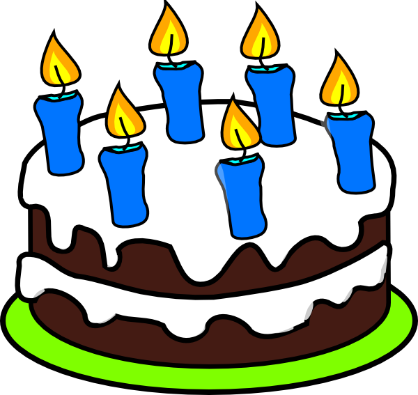 Happy birthday cake with candles clipart image royalty free library 6th Birthday Candle Clipart - Clipart Kid image royalty free library