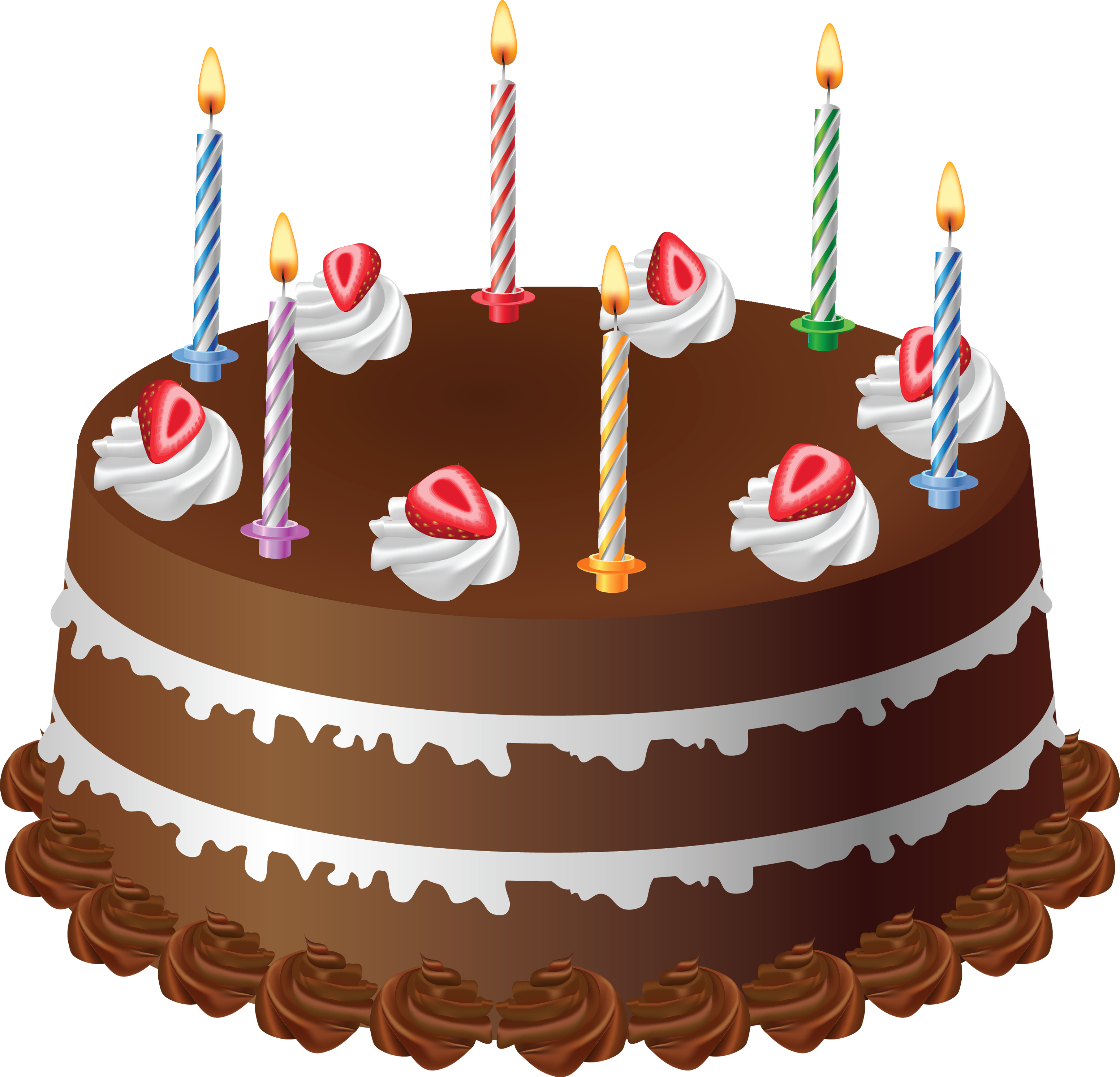 Happy birthday cake with candles clipart png black and white library Happy Birthday Cakes Png Image ~ The Best Collection of Quotes png black and white library