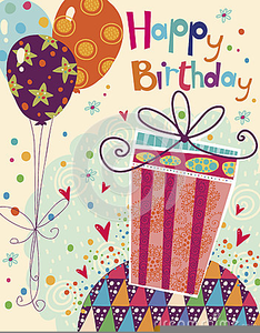 Happy birthday card clipart graphic library stock Happy Birthday Card Clipart | Free Images at Clker.com - vector clip ... graphic library stock