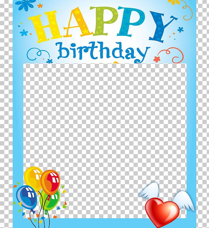 Happy birthday card clipart image black and white download Birthday Cake Happy Birthday Card! Frame PNG, Clipart, Android ... image black and white download