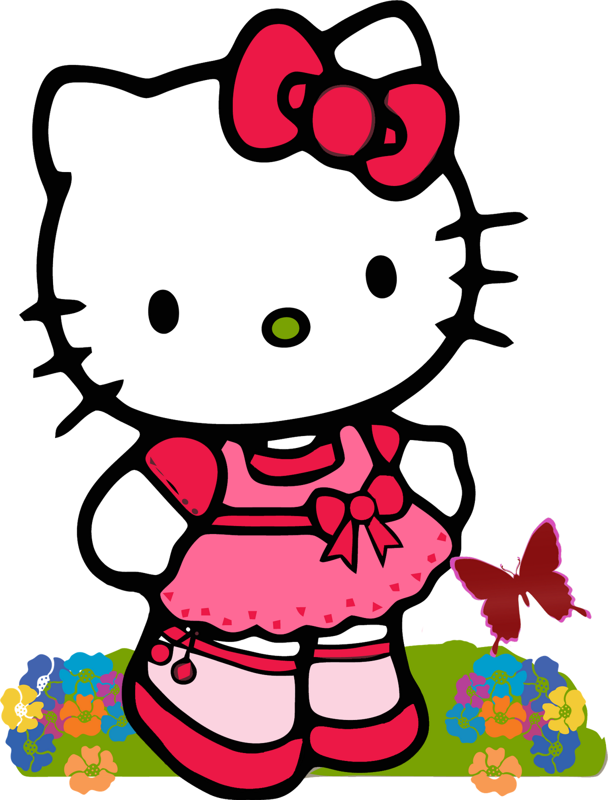 Happy birthday cat clipart picture library download hello kitty | amigas alguien quien me comparta imagenes de Hello ... picture library download