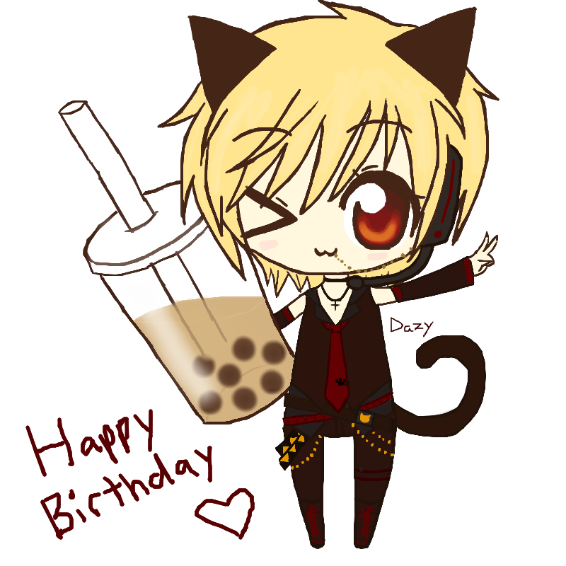 Happy birthday cat clipart vector free download Konnichiwa! 96neko vocaloid vector free download