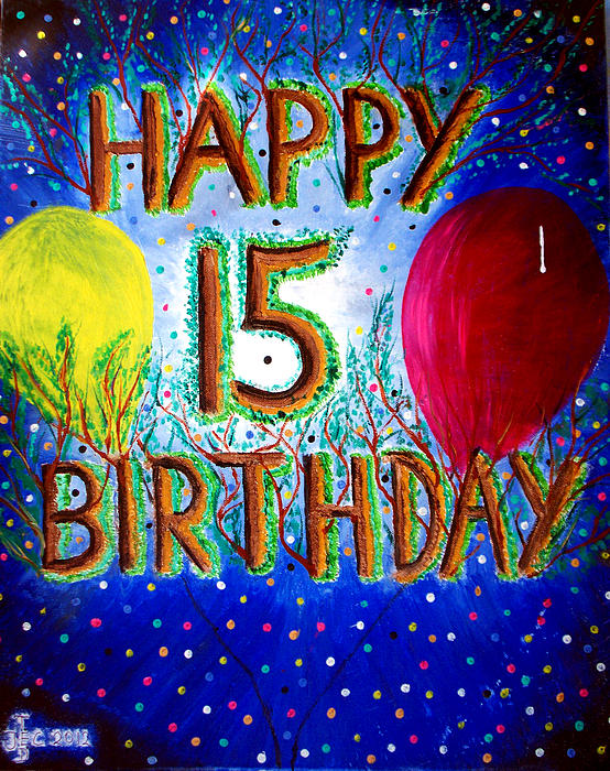 Happy birthday clipart boy 15 png library stock Happy 15th Birthday Greeting Card png library stock