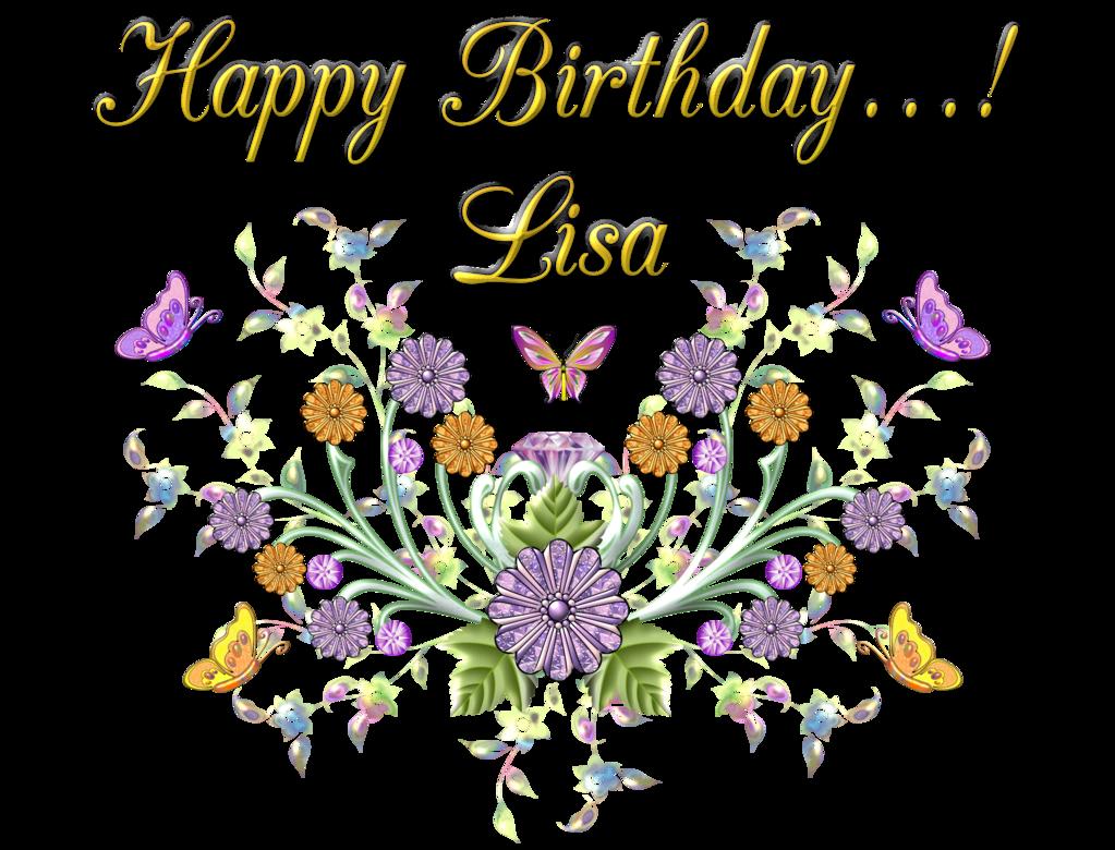 Happy birthday clipart flower for her vector library stock Happy-Birthday-Lisa by bbvzla on DeviantArt |