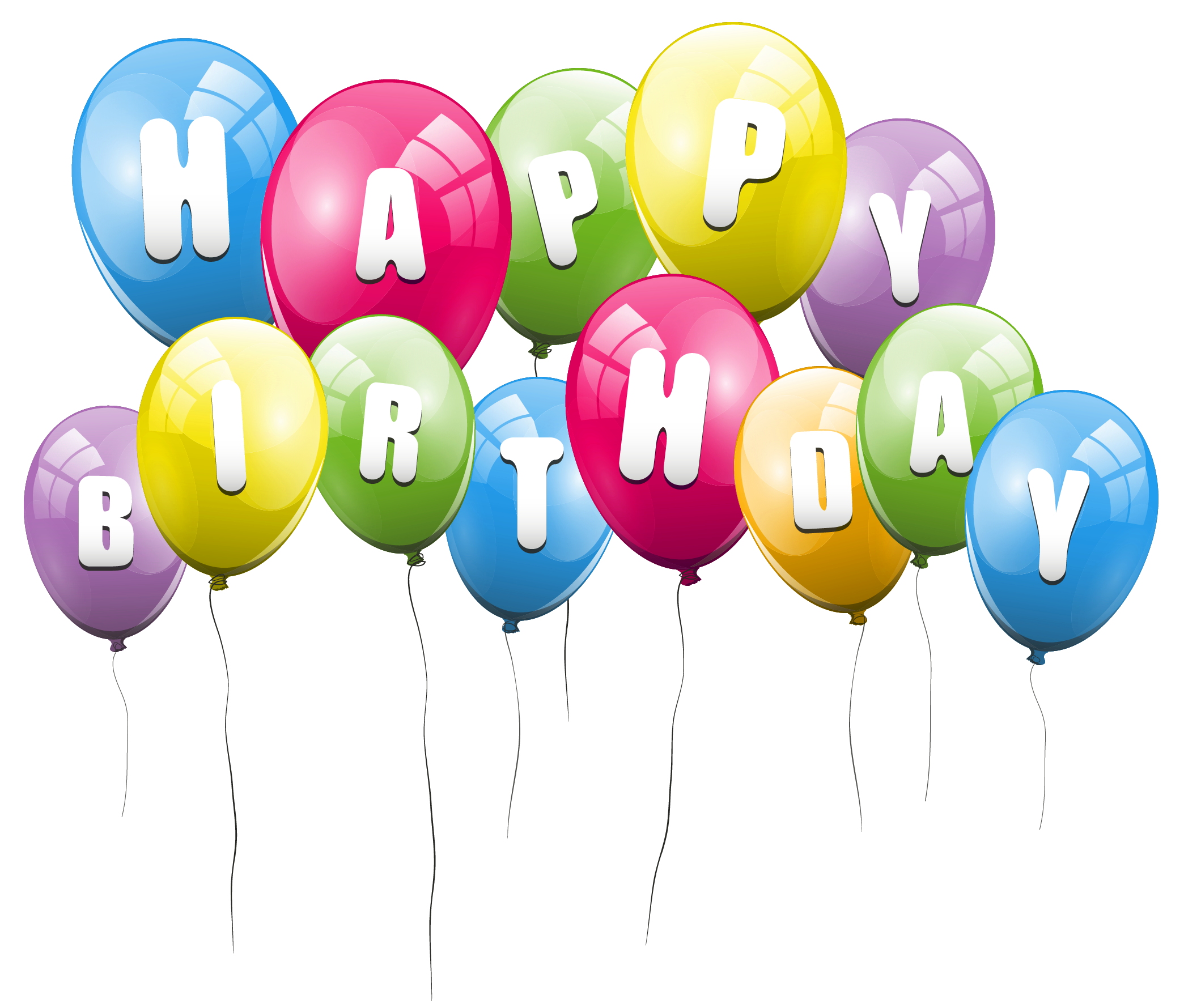 Happy birthday clipart for air force png black and white Happy birthday balloons pic clipart images gallery for free download ... png black and white