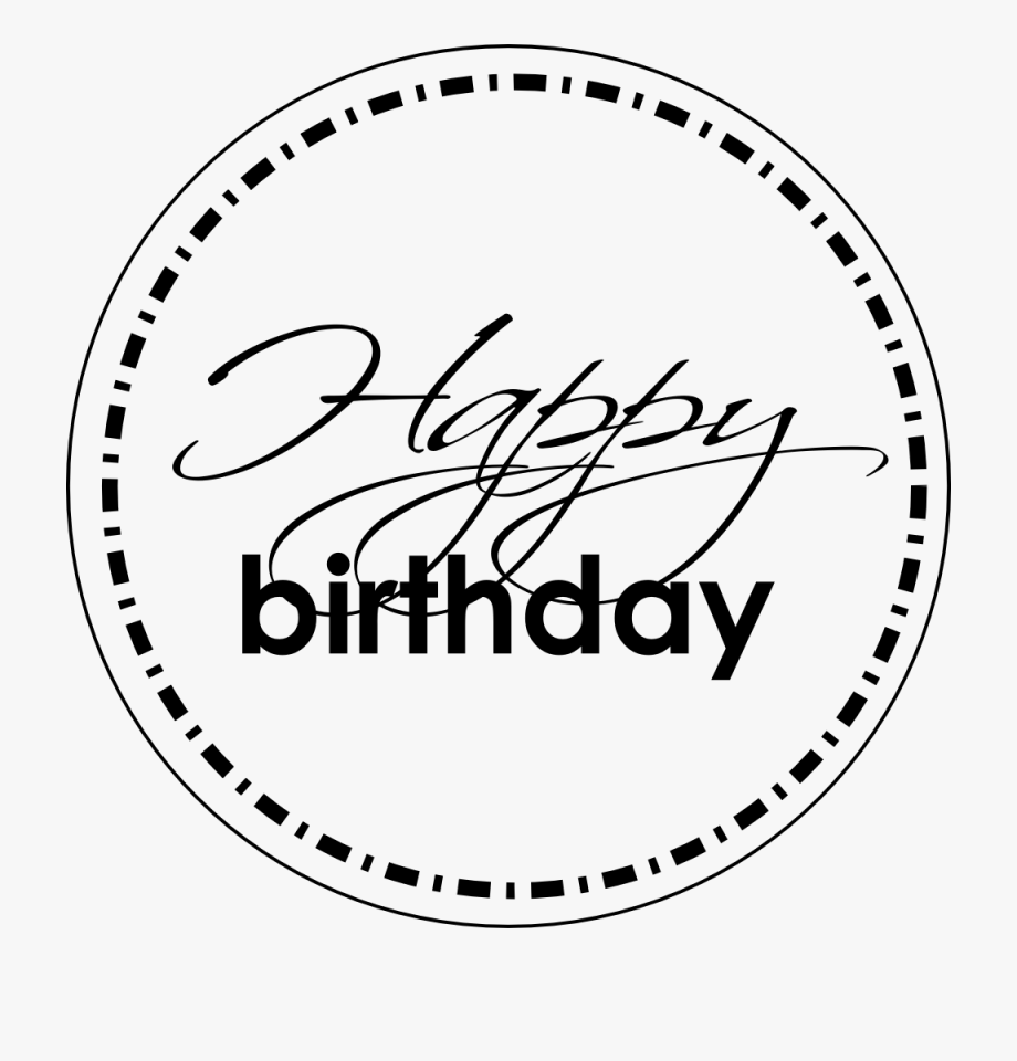 Happy birthday clipart for air force image black and white library Scissors & Colours - Happy Birthday In A Circle #1723310 - Free ... image black and white library