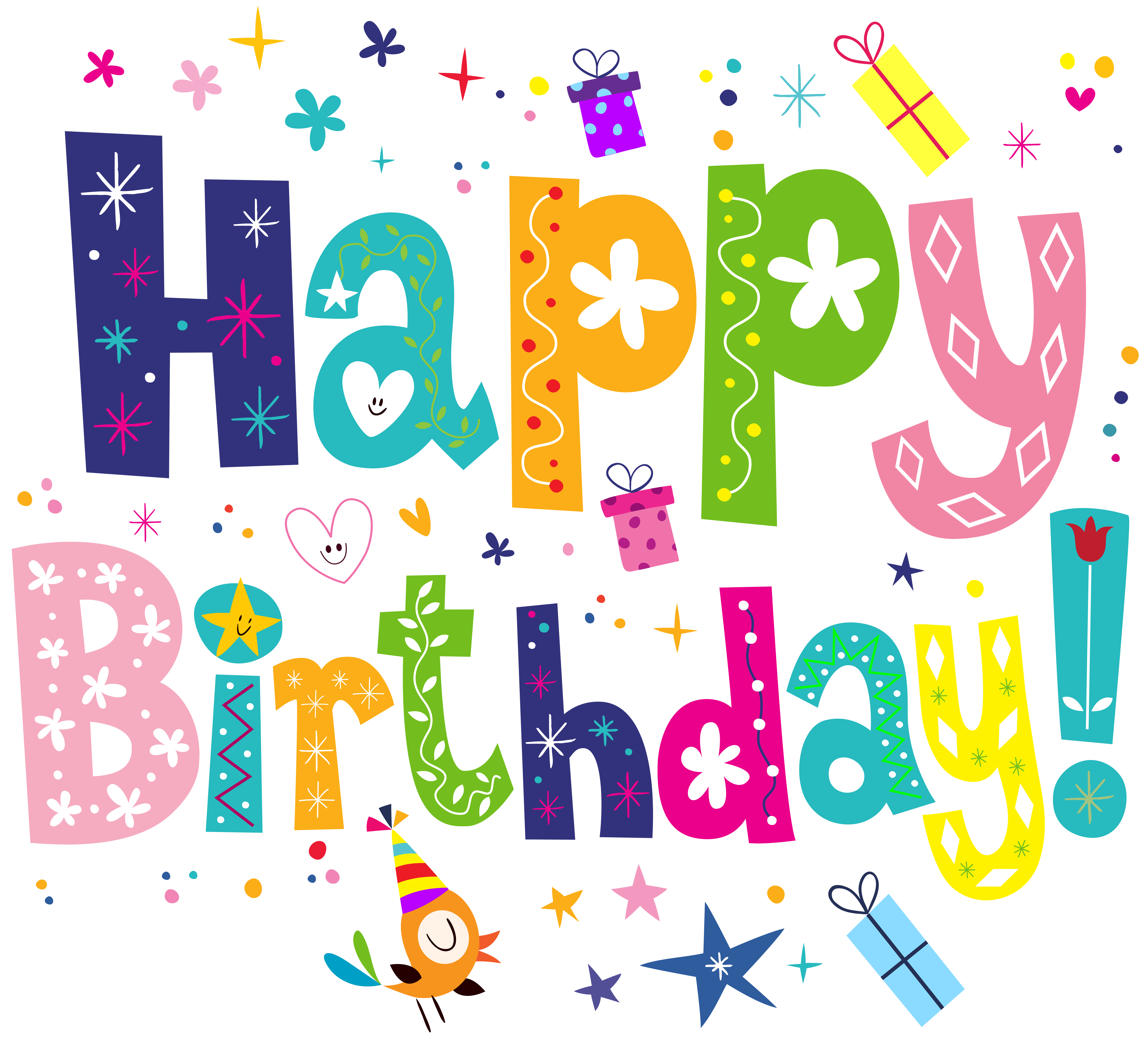 Happy birthday flower clipart picture freeuse stock https://www.bing.com/images/search?view=detailV2 | word art ... picture freeuse stock