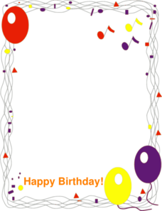 Happy birthday frames and borders clipart image library Happy Birthday Border Clip Art at Clker.com - vector clip art online ... image library