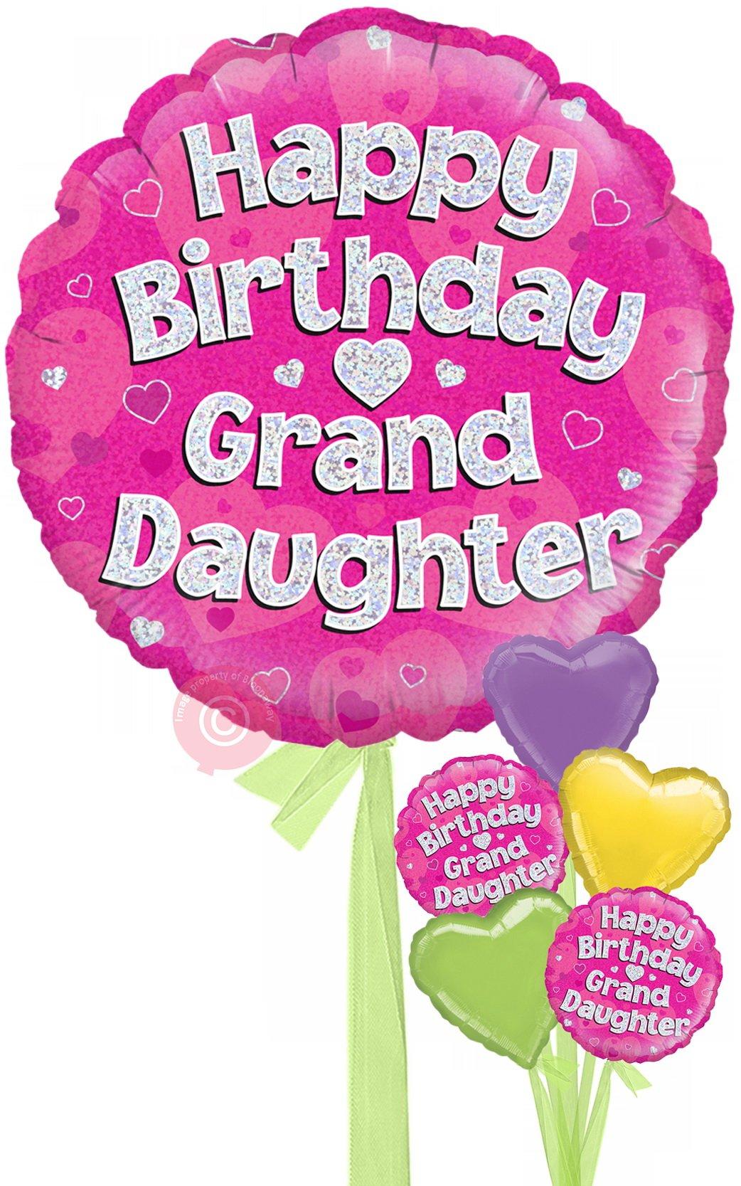 Happy birthday granddaughter clipart jpg free stock Happy Birthday Granddaughter Holographic jpg free stock