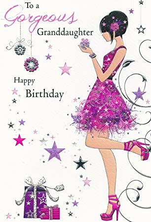 Happy birthday granddaughter clipart picture royalty free library To A Gorgeous Granddaughter Happy Birthday Card (JJ8542): Amazon.co ... picture royalty free library