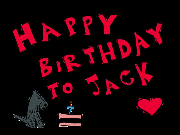 Happy birthday heart clipart for her jpg stock Happy Birthday to Jack! – Jack the Scottie jpg stock