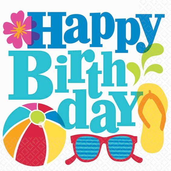 Happy birthday jerry clipart clip art free library Hawaiian Girl Lunch Napkins | Happy birthdays and Birthday greetings clip art free library