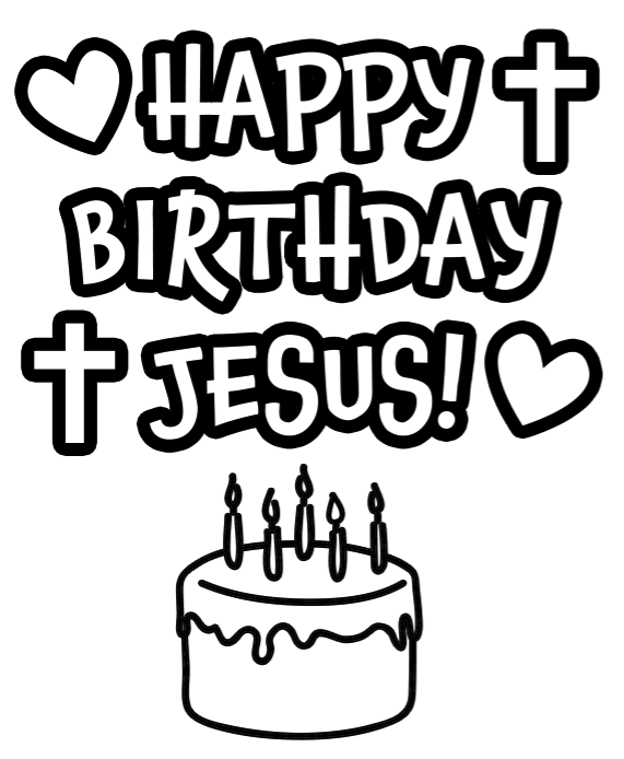 Happy birthday jesus clipart black and white picture free Throw Jesus a Birthday Party | Christmas | Christmas jesus, Jesus ... picture free