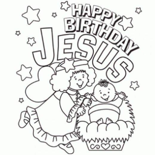 Happy birthday jesus clipart black and white clip art stock 5+ Happy Birthday Jesus Clipart | ClipartLook clip art stock