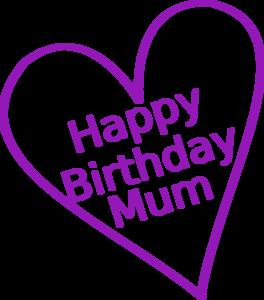 Happy birthday mama clipart graphic Happy Birthday Mum Clip Art at Clker.com - vector clip art online ... graphic