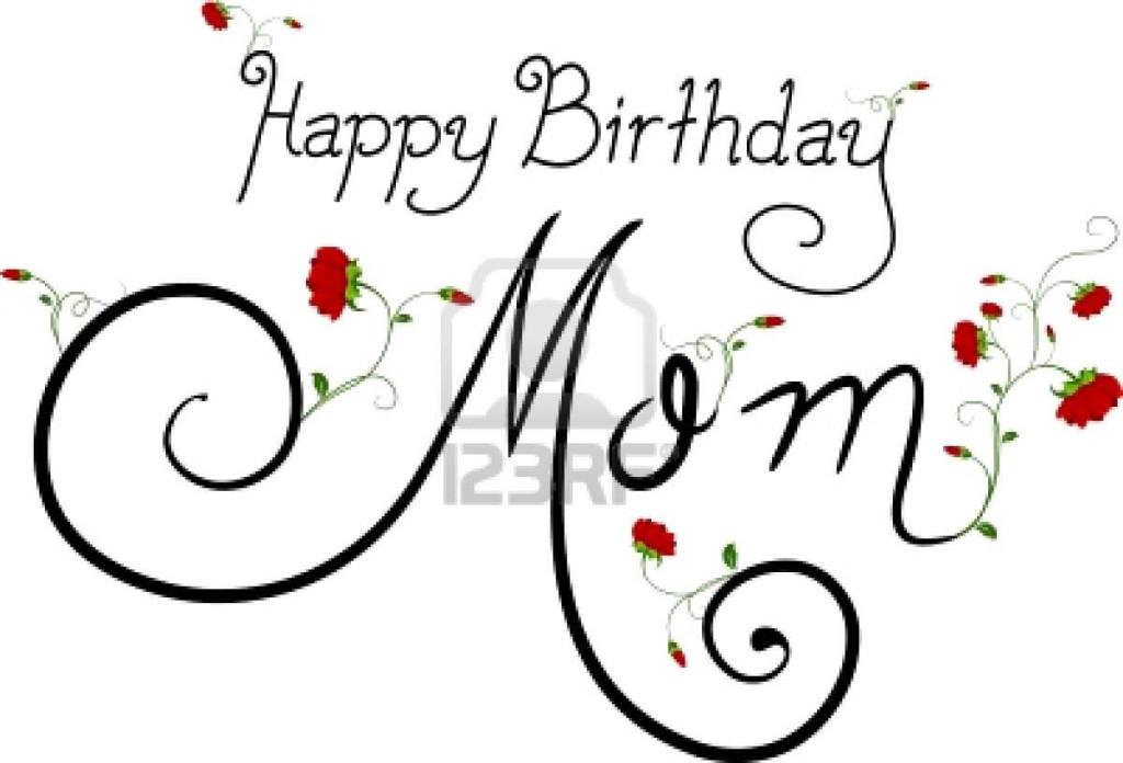 Happy birthday mama clipart vector stock Happy birthday mom - Mom Birthday Wishes: Special Birthday ... vector stock