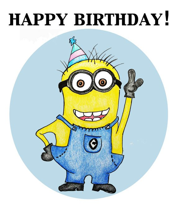 """Happy birthday minion clipart clipart free 100 Minion cards to wish a """"Happy Birthday""""   Holidays and Observances clipart free"""