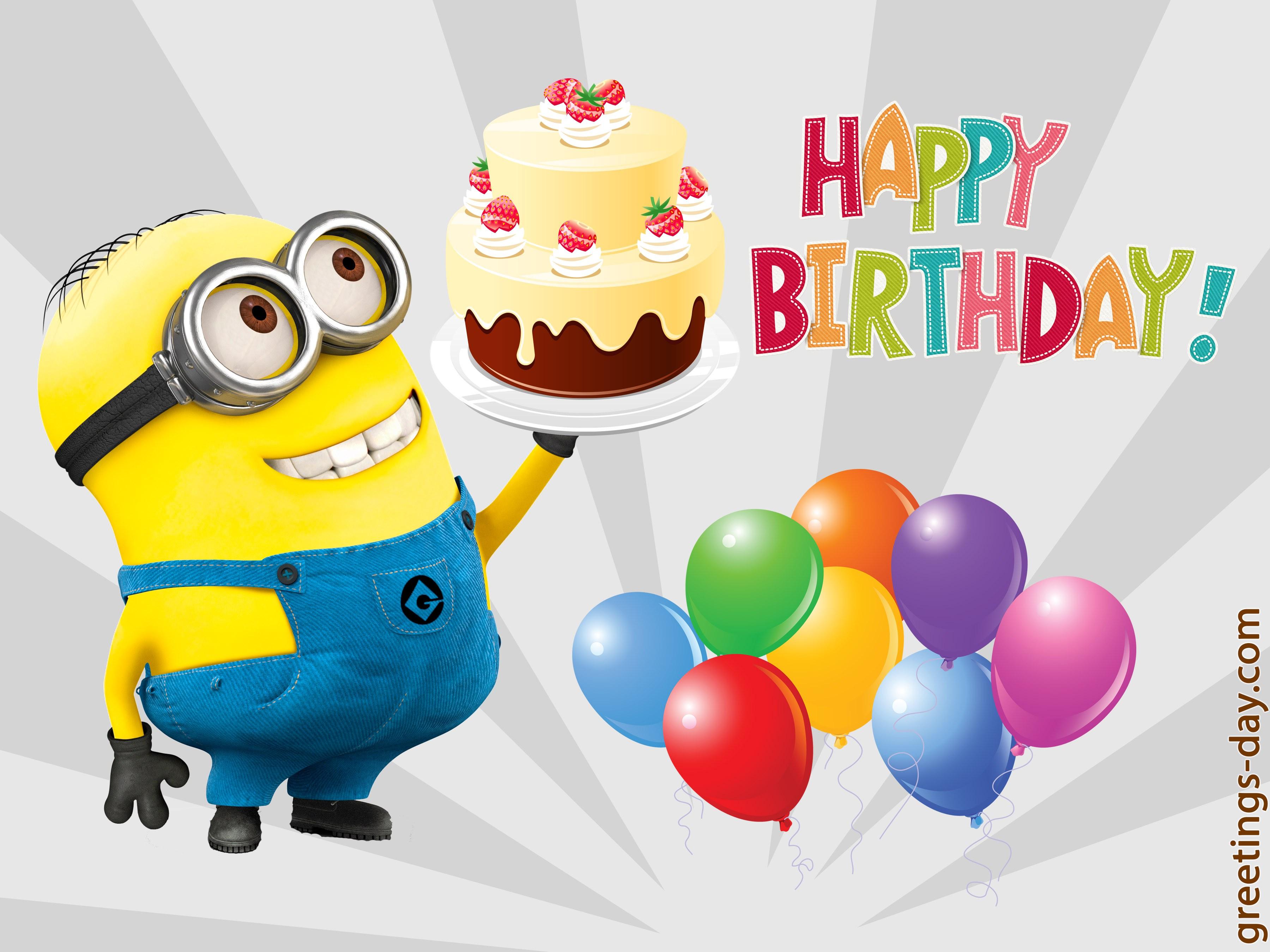 "Happy birthday minion clipart banner royalty free library 100 Minion cards to wish a ""Happy Birthday""   Holidays and Observances banner royalty free library"
