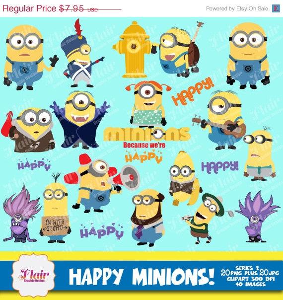 Happy birthday minion clipart clip library stock Minion Party Clipart - Clipart Kid clip library stock