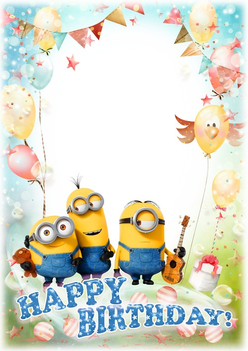 Happy birthday minion clipart svg freeuse Minion frame clipart - ClipartFest svg freeuse