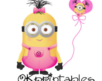 Happy birthday minion clipart image royalty free download Girl minions clipart - ClipartFest image royalty free download
