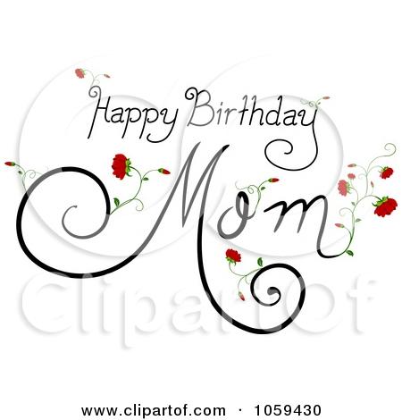 Happy birthday mom cake clipart black and white library Happy Birthday Mom Cake Clipart - clipartsgram.com black and white library