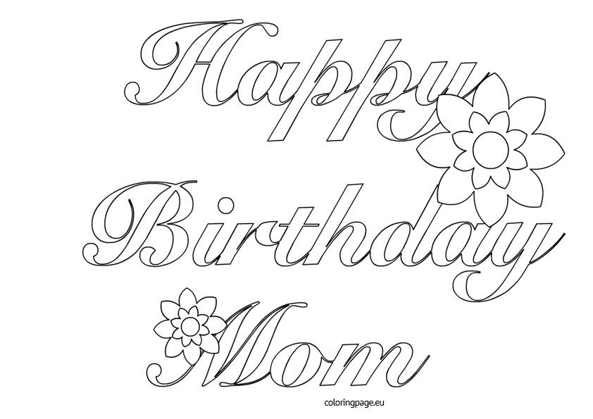 Happy birthday mom cake clipart jpg transparent library Happy mom clipart outline - ClipartFest jpg transparent library