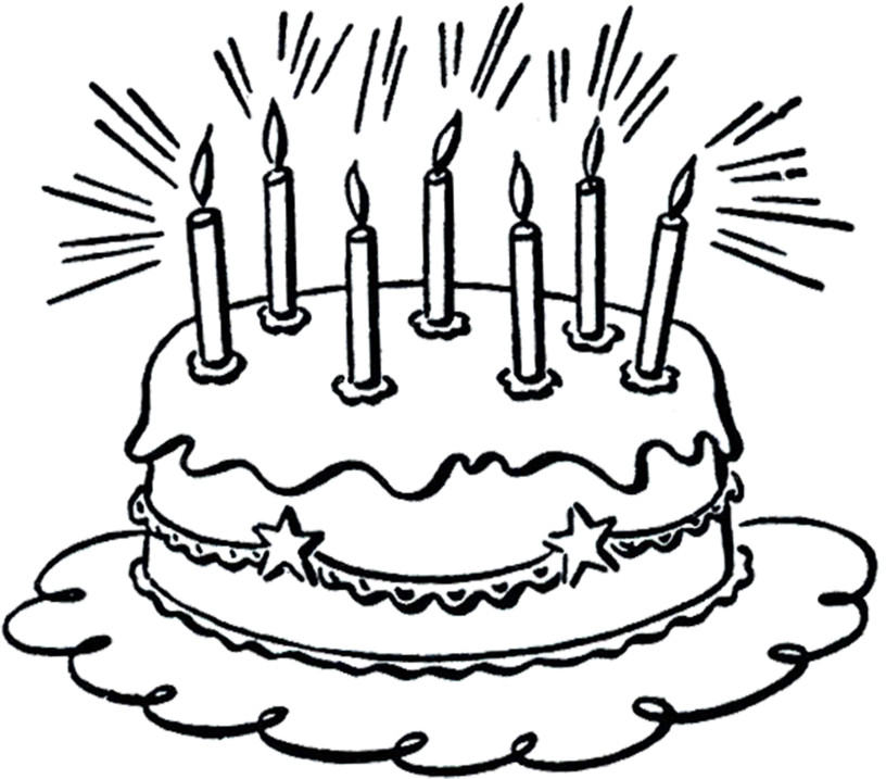 Happy birthday mom cake clipart graphic free Happy birthday cake with lots of candles http://birthday-cake ... graphic free