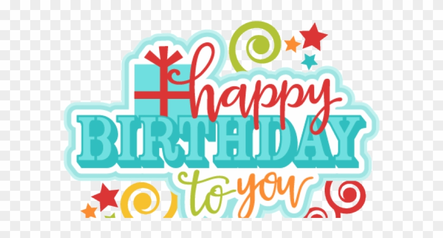 Happy Birthday Clipart Transparent Background - Happy Birthday Text ... banner free library