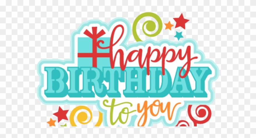 Happy birthday text art clipart clipart library Happy Birthday Clipart Transparent Background - Happy Birthday Text ... clipart library