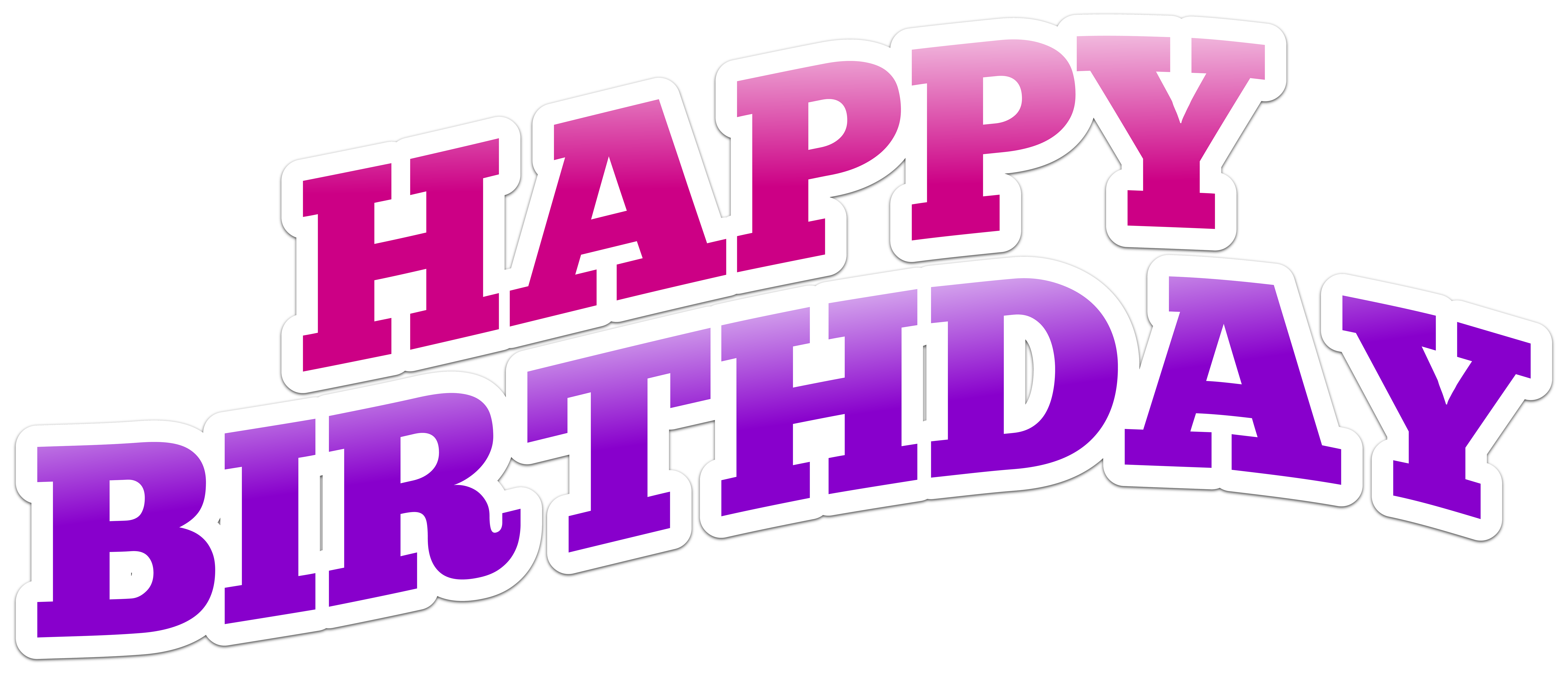 Happy birthday text art clipart black and white Happy Birthday Text PNG Clip Art Image | Gallery Yopriceville ... black and white