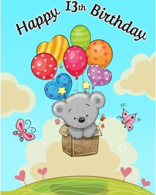 Happy birthday to a 13 year old clipart jpg transparent download CreateSpace Independent Publishing Platform Happy 13th Birthday: Notebook,  Journal, Diary, 105 Lined Pages, Birthday Gifts for 13 Year Old Girls, ... jpg transparent download