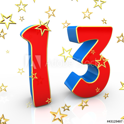 Happy birthday to a 13 year old clipart banner royalty free 13 Years Old - Happy Birthday - Buy this stock illustration and ... banner royalty free